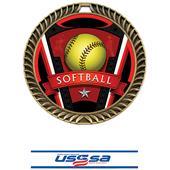 "Hasty Awards 2.5"" Varsity Crest Softball Medals"