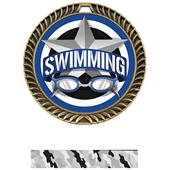 """Hasty Awards 2.5"""" All-Star Crest Swimming Medals"""