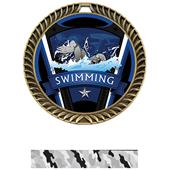 """Hasty Awards 2.5"""" Varsity Crest Swimming Medals"""
