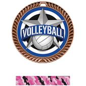 "Hasty Awards 2.5"" All-Star Crest Volleyball Medals"