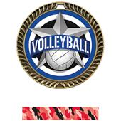 """Hasty Awards 2.5"""" All-Star Crest Volleyball Medals"""