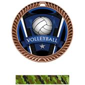 "Hasty Awards 2.5"" Varsity Crest Volleyball Medals"