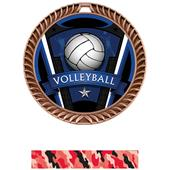 """Hasty Awards 2.5"""" Varsity Crest Volleyball Medals"""