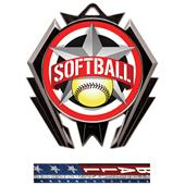 Hasty Stealth Softball All-Star Medal M-5200