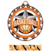 Hasty Award Basketball All-Star Insert Medal