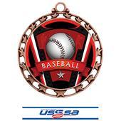 Hasty Award Baseball Varsity Insert Medal M-4401