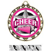 Hasty Award Cheer All-Star Insert Medal M-4401