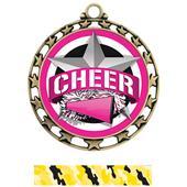 Hasty Award Cheer All-Star Insert Medal M-4401