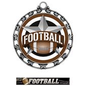 Hasty Award Football All-Star Insert Medal M-4401