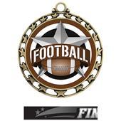 Hasty Award Football All-Star Insert Medal M-4401