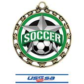 Hasty Award Soccer All-Star Insert Medal M-4401