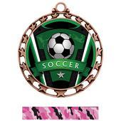 Hasty Award Soccer Varsity Insert Medal M-4401