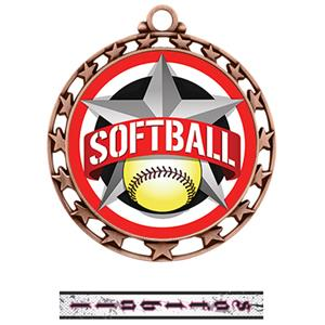 BRONZE MEDAL/INTENSE SOFTBALL NECK RIBBON