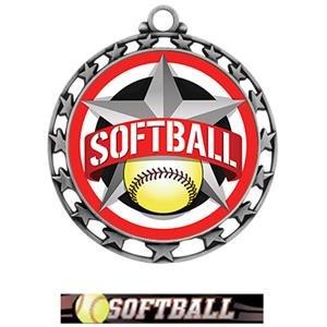SILVER MEDAL/ULTIMATE SOFTBALL NECK RIBBON