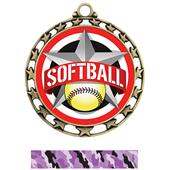 Hasty Award Softball All-Star Insert Medal M-4401