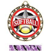 Hasty Award Softball All-Star Insert Medal M-4401