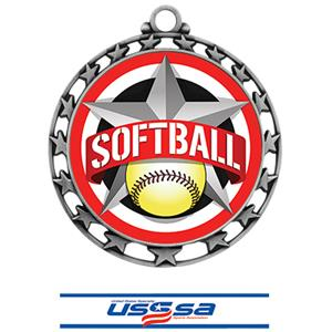 SILVER MEDAL/DELUXE USSSA NECK RIBBON