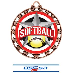 BRONZE MEDAL/DELUXE USSSA NECK RIBBON