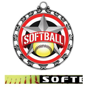 SILVER MEDAL/PRIME SOFTBALL NECK RIBBON