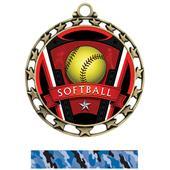 Hasty Award Softball Varsity Insert Medal M-4401