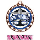 Hasty Award Swimming All-Star Insert Medal M-4401