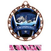 Hasty Award Swimming Varsity Insert Medal M-4401