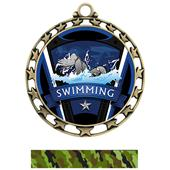 Hasty Award Swimming Varsity Insert Medal M-4401