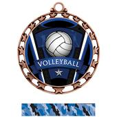Hasty Award Volleyball Varsity Insert Medal