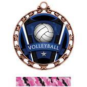 Hasty Award Volleyball Varsity Insert Medal