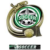 Hasty Soccer Action All-Star Insert Medal M-1201S