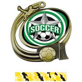 Hasty Soccer Action All-Star Insert Medal M-1201S