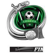 Hasty Soccer Action Varsity Insert Medal M-1201S
