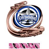 Hasty Swim Action All-Star Insert Medal M-1201W