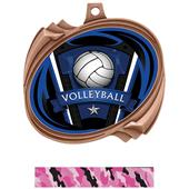 Hasty Volleyball Varsity Insert Hurricane Medals