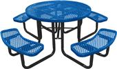 "Highland Expanded 46"" ROUND Diamond Picnic Table"