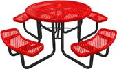 """Highland Expanded 46"""" ROUND Diamond Picnic Table"""