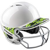 Two-Tone Gem Gloss Batting Helmet w/Facemask
