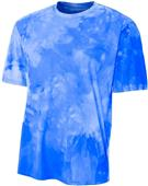 A4 Adult Polyester Cloud Dye Tech Tee Shirt