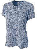 A4 Women's Polyester Space Dye Tech Shirt