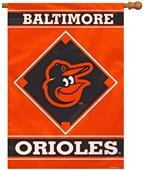 "MLB Baltimore Orioles 28"" x 40"" House Banner"