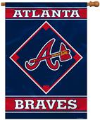 "MLB Atlanta Braves 28"" x 40"" House Banner"