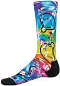 Red Lion Tie Dye Hit Man Baseball Crew Socks