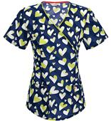 Code Happy Out to Sea Love To Smile Scrub Top
