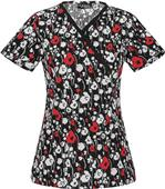 Runway by Cherokee Women's Mock Wrap Scrub Tops