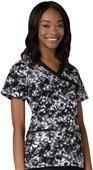 Maevn Prints Women's MockWrap Princess Scrub Tops
