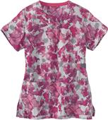 Carhartt Womens Yneck Print Floral Grace Scrub Top