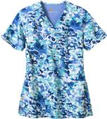 Carhartt Womens Y-Neck Print Lake Shore Scrub Top