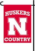 College Nebraska 2-Sided Country Garden Flag