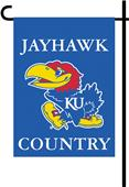 College Kansas Jayhawk 2-Sided Country Garden Flag