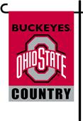 College Ohio State 2-Sided Country Garden Flag